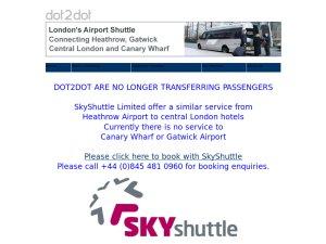National Express Dot2Dot website