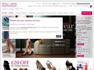 Duo Boots website