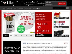E-lites Electronic Cigarettes website