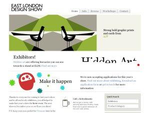 East London Design Show website