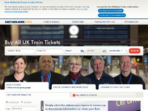 East Midlands Trains website