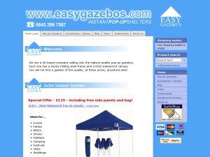 EasyGazebos website