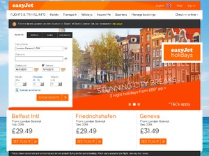 easyJet holidays website