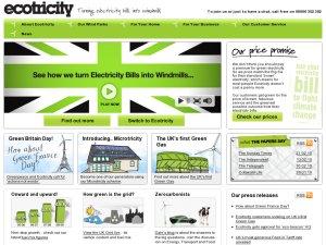 Ecotricity website