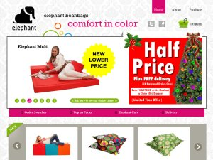 Elephant Bean Bags website