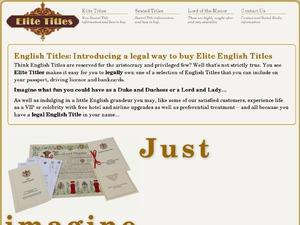 Elite Titles website