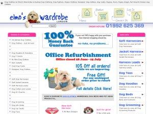 Elmos Wardrobe website