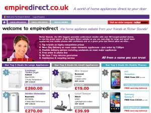 Empire Direct website