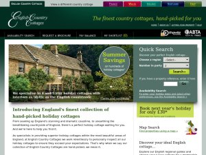 English Country Cottages website