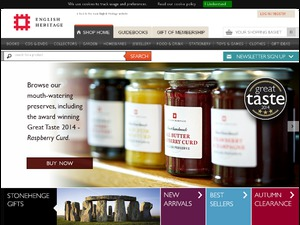 English Heritage Shop website