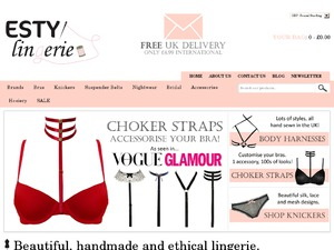 Esty Lingerie website