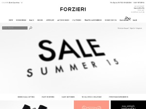 Forzieri website