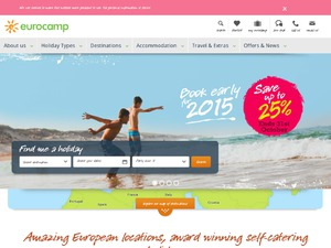 Eurocamp website