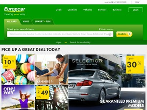 Europcar International UK website