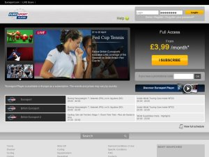 Eurosport Player UK website