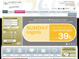 Eurostars Hotels website