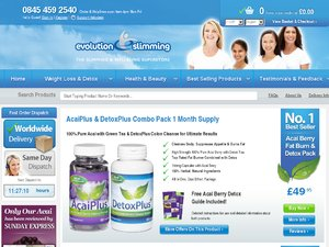 Evolution Slimming website
