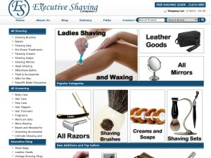 Executive Shaving website