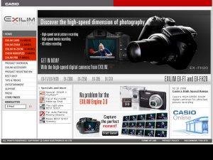 Exilim website