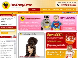 Fab Fancy Dress website