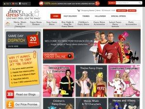 Fancy Dress Outfitters website