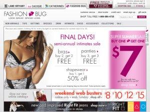FashionBug website