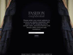 Fashion Confidential website