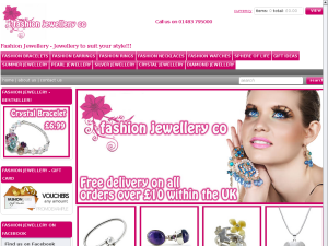 Fashion Jewelleryco website