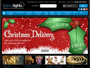 Festive lights website