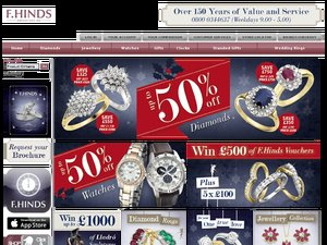 F.Hinds Jewellers website