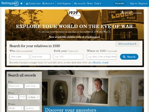 findmypast AU website
