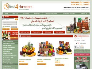 First4Hampers website