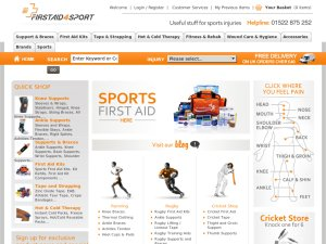 Firstaid4Sport website