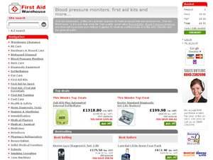 First Aid Warehouse website