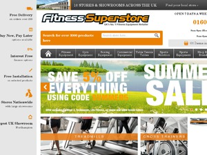 Fitness Superstore website
