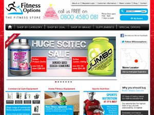 Fitness Options website