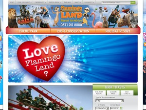 Flamingo Land website