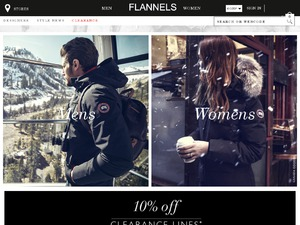 Flannels website
