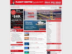 FlightCentre website