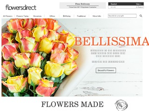 Flowers Direct website