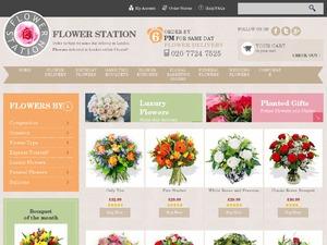 Flower Station website