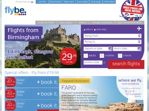 Flybe website