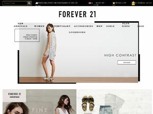 Forever 21 website