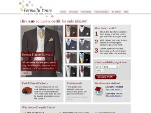 Formally Yours website