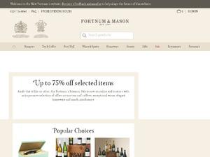 Fortnum and Mason website