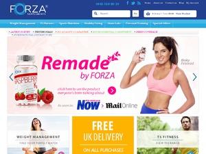 FORZA Supplements website