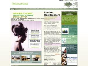 Francesco Picardi hairdressing website