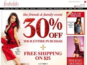 Fredericks of Hollywood website
