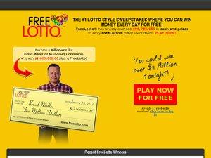 FreeLotto UK website