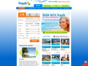 Fresh Holidays website